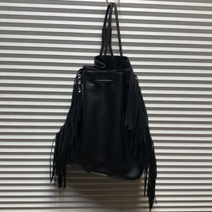 Victoria's Secret Fringe Backpack Black